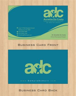 Dr Annette C Da Costa Business Cards and Stationery  Draft # 78 by Deck86