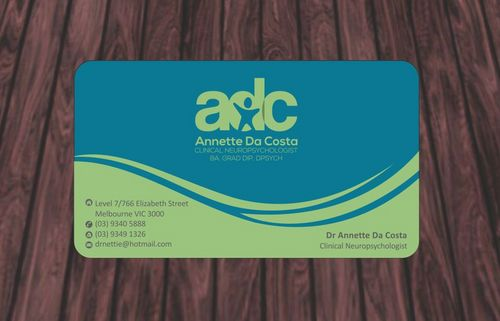 Dr Annette C Da Costa Business Cards and Stationery  Draft # 80 by Deck86