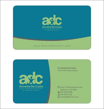 Dr Annette C Da Costa Business Cards and Stationery  Draft # 81 by Deck86