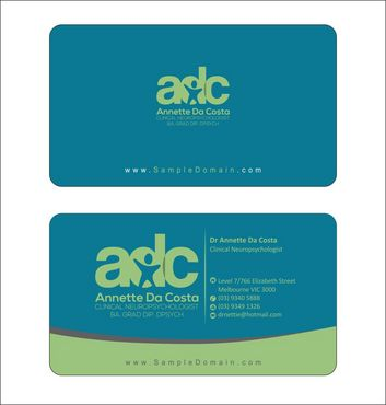 Dr Annette C Da Costa Business Cards and Stationery  Draft # 82 by Deck86