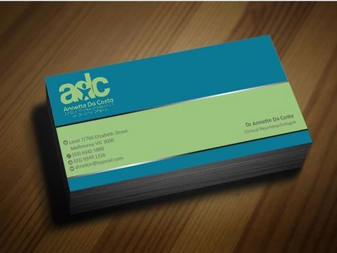 Dr Annette C Da Costa Business Cards and Stationery  Draft # 83 by Deck86