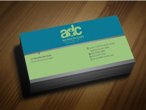 Dr Annette C Da Costa Business Cards and Stationery  Draft # 84 by Deck86