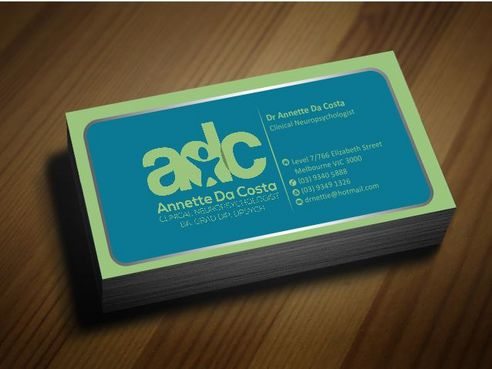 Dr Annette C Da Costa Business Cards and Stationery  Draft # 86 by Deck86