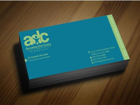 Dr Annette C Da Costa Business Cards and Stationery  Draft # 87 by Deck86