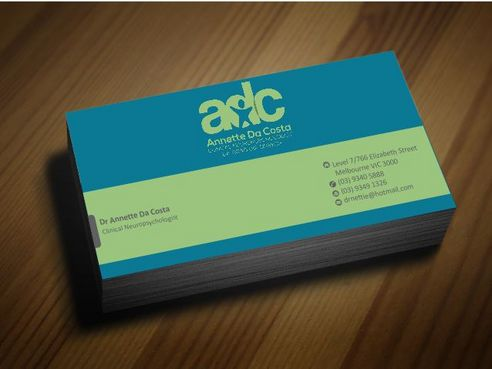 Dr Annette C Da Costa Business Cards and Stationery  Draft # 88 by Deck86
