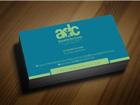 Dr Annette C Da Costa Business Cards and Stationery  Draft # 89 by Deck86