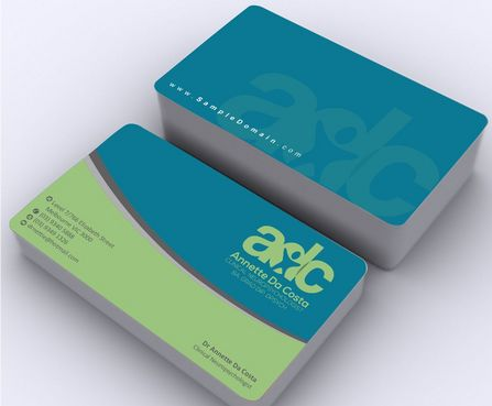 Dr Annette C Da Costa Business Cards and Stationery  Draft # 93 by Deck86