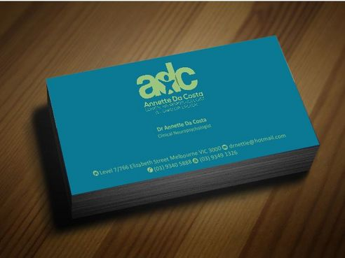 Dr Annette C Da Costa Business Cards and Stationery  Draft # 97 by Deck86