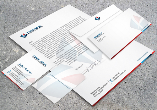 Business cards + letterhead + envelope + folder...
