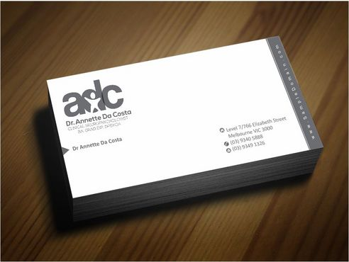 Dr Annette C Da Costa Business Cards and Stationery  Draft # 148 by Deck86
