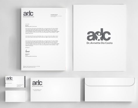 Dr Annette C Da Costa Business Cards and Stationery  Draft # 149 by Deck86
