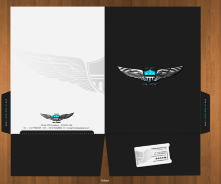Presentation Folder, envelope, letterhead and a stunning email signature!