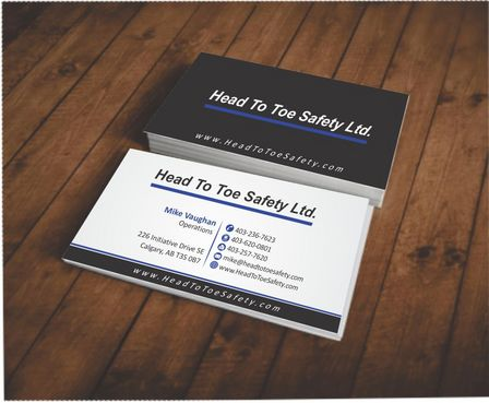 Head To Toe Safety Stationary Business Cards and Stationery  Draft # 57 by Deck86