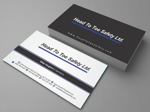 Head To Toe Safety Stationary Business Cards and Stationery  Draft # 92 by Deck86