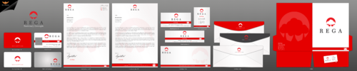 Business cards, letter head, email signature, file folders