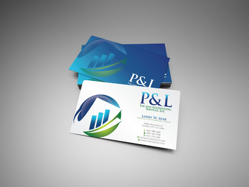 P&L Tax and Accounting Services, LLC Business Cards and Stationery  Draft # 39 by sevensky