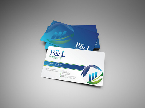 P&L Tax and Accounting Services, LLC Business Cards and Stationery  Draft # 40 by sevensky