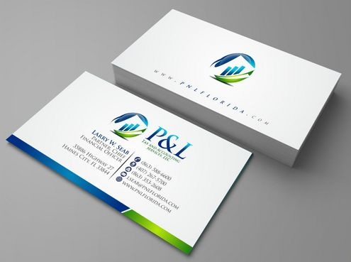 P&L Tax and Accounting Services, LLC Business Cards and Stationery  Draft # 93 by Deck86