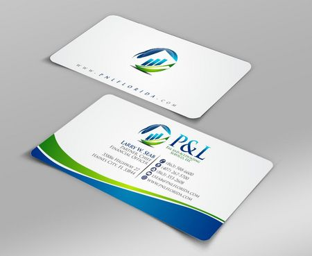 P&L Tax and Accounting Services, LLC Business Cards and Stationery  Draft # 94 by Deck86