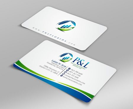 P&L Tax and Accounting Services, LLC Business Cards and Stationery  Draft # 95 by Deck86