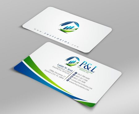 P&L Tax and Accounting Services, LLC Business Cards and Stationery  Draft # 96 by Deck86