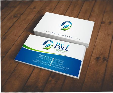 P&L Tax and Accounting Services, LLC Business Cards and Stationery  Draft # 98 by Deck86