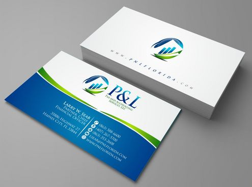 P&L Tax and Accounting Services, LLC Business Cards and Stationery  Draft # 99 by Deck86