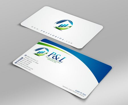 P&L Tax and Accounting Services, LLC Business Cards and Stationery  Draft # 102 by Deck86