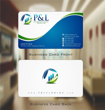 P&L Tax and Accounting Services, LLC Business Cards and Stationery  Draft # 103 by Deck86