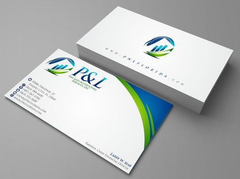 P&L Tax and Accounting Services, LLC Business Cards and Stationery  Draft # 104 by Deck86