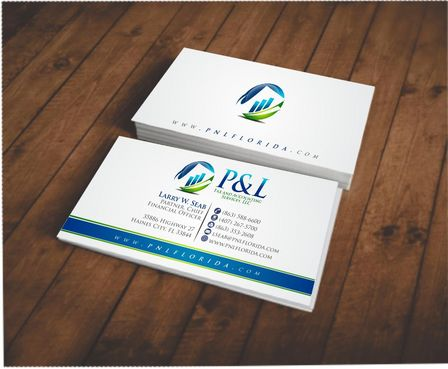 P&L Tax and Accounting Services, LLC Business Cards and Stationery  Draft # 113 by Deck86