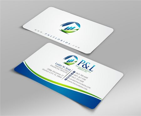 P&L Tax and Accounting Services, LLC Business Cards and Stationery  Draft # 106 by Deck86