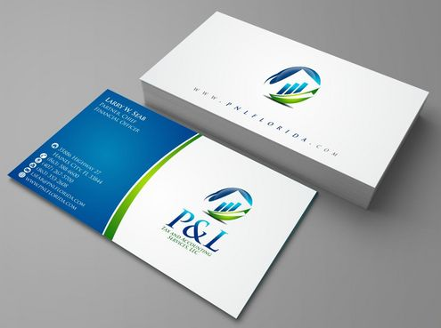 P&L Tax and Accounting Services, LLC Business Cards and Stationery  Draft # 108 by Deck86