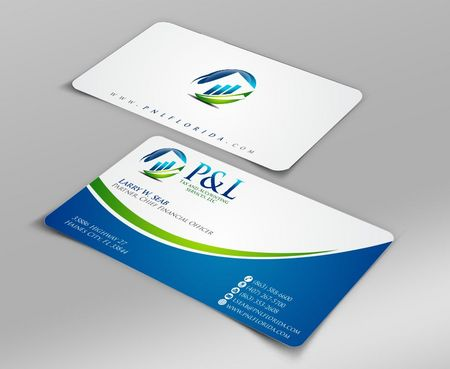 P&L Tax and Accounting Services, LLC Business Cards and Stationery  Draft # 111 by Deck86