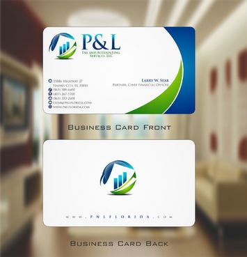 P&L Tax and Accounting Services, LLC Business Cards and Stationery  Draft # 110 by Deck86