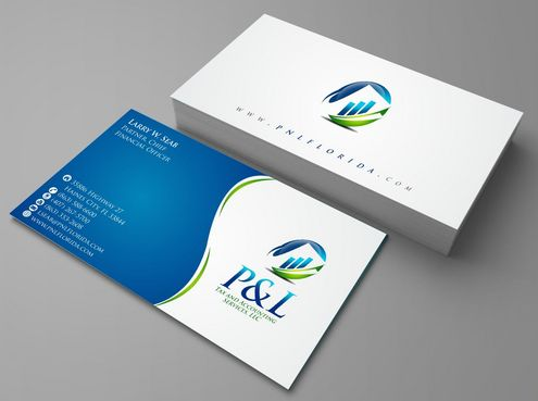 P&L Tax and Accounting Services, LLC Business Cards and Stationery  Draft # 114 by Deck86