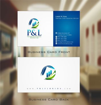 P&L Tax and Accounting Services, LLC Business Cards and Stationery  Draft # 115 by Deck86
