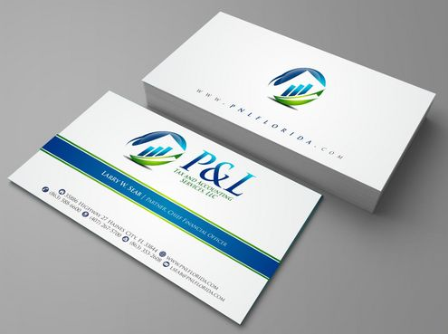 P&L Tax and Accounting Services, LLC Business Cards and Stationery  Draft # 117 by Deck86