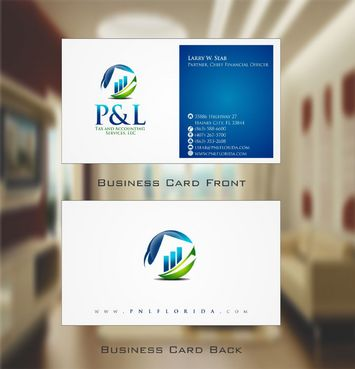 P&L Tax and Accounting Services, LLC Business Cards and Stationery  Draft # 116 by Deck86