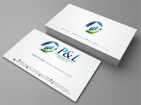 P&L Tax and Accounting Services, LLC Business Cards and Stationery  Draft # 118 by Deck86