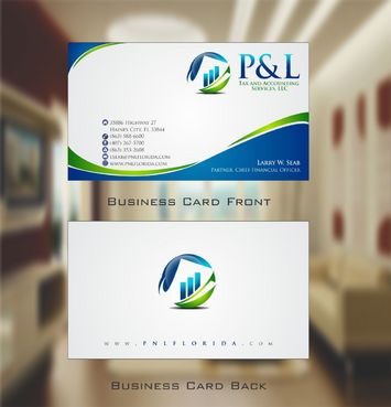 P&L Tax and Accounting Services, LLC Business Cards and Stationery  Draft # 119 by Deck86