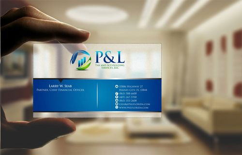 P&L Tax and Accounting Services, LLC Business Cards and Stationery  Draft # 120 by Deck86