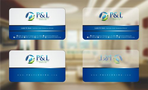 P&L Tax and Accounting Services, LLC Business Cards and Stationery  Draft # 121 by Deck86