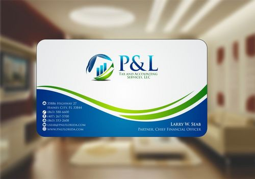 P&L Tax and Accounting Services, LLC Business Cards and Stationery  Draft # 122 by Deck86
