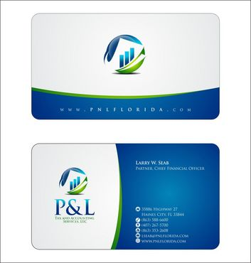 P&L Tax and Accounting Services, LLC Business Cards and Stationery  Draft # 124 by Deck86