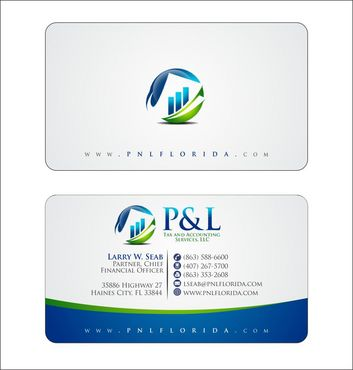 P&L Tax and Accounting Services, LLC Business Cards and Stationery  Draft # 125 by Deck86