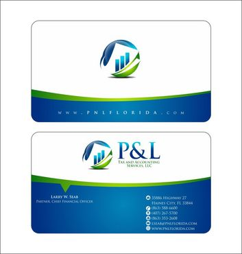 P&L Tax and Accounting Services, LLC Business Cards and Stationery  Draft # 126 by Deck86