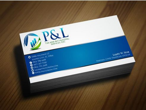 P&L Tax and Accounting Services, LLC Business Cards and Stationery  Draft # 127 by Deck86