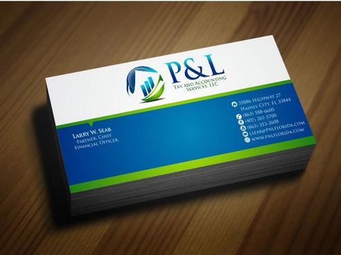 P&L Tax and Accounting Services, LLC Business Cards and Stationery  Draft # 128 by Deck86