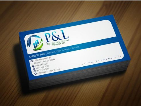 P&L Tax and Accounting Services, LLC Business Cards and Stationery  Draft # 129 by Deck86